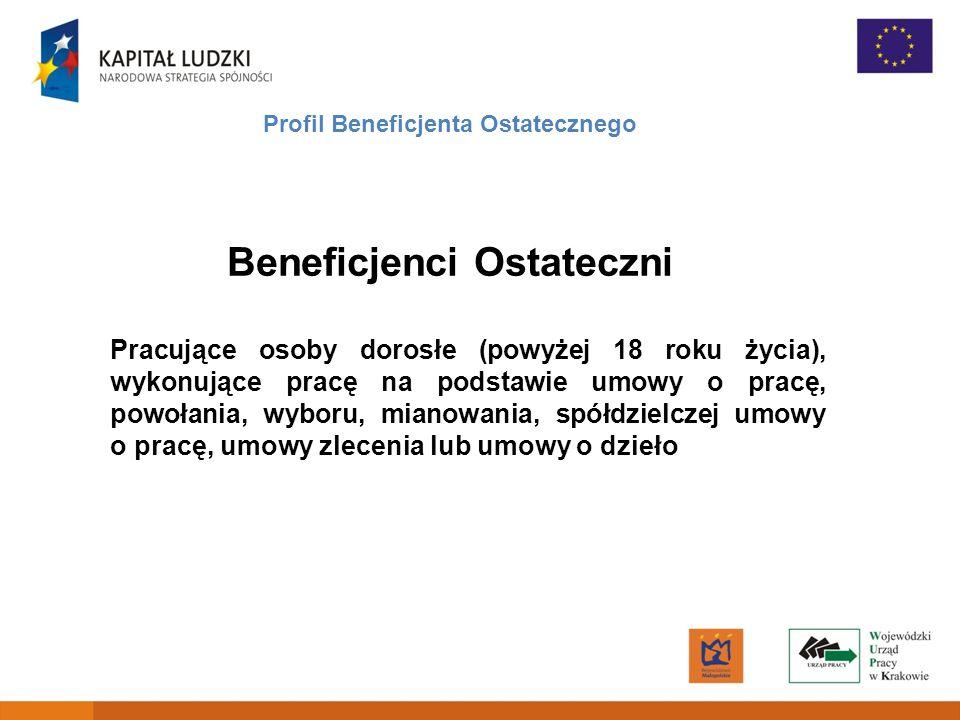 Profil Beneficjenta Ostatecznego Beneficjenci Ostateczni