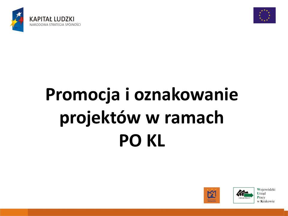 Promocja i oznakowanie projektów w ramach PO KL