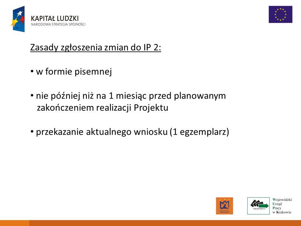 Zasady zgłoszenia zmian do IP 2:
