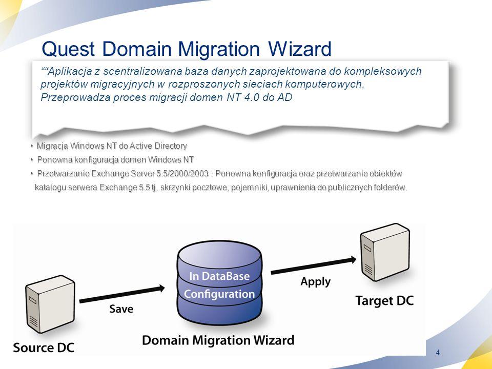 Quest Domain Migration Wizard