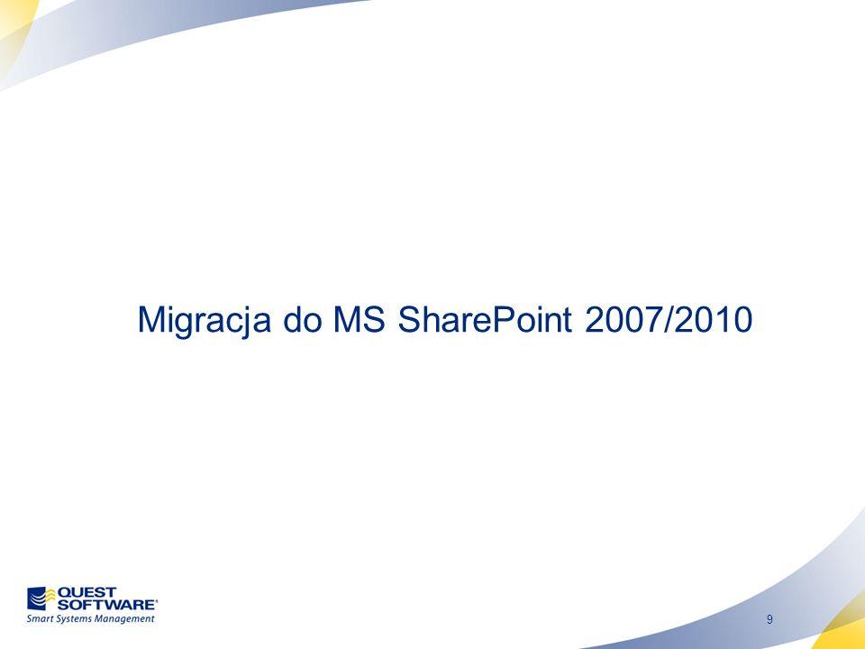 Migracja do MS SharePoint 2007/2010
