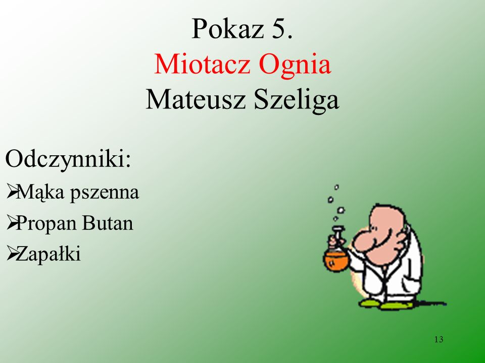 Pokaz 5. Miotacz Ognia Mateusz Szeliga