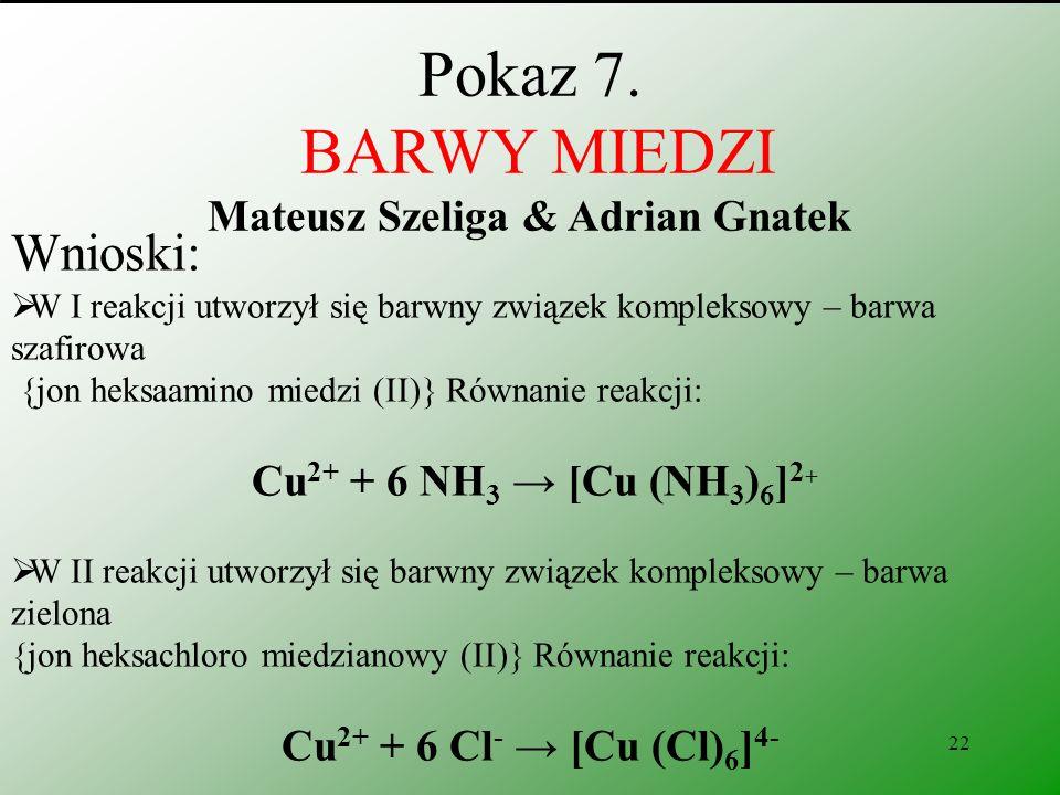 Pokaz 7. BARWY MIEDZI Mateusz Szeliga & Adrian Gnatek