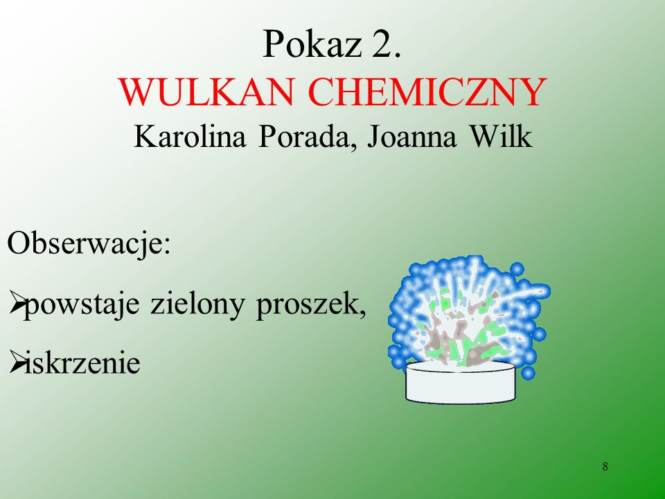 Pokaz 2. WULKAN CHEMICZNY Karolina Porada, Joanna Wilk