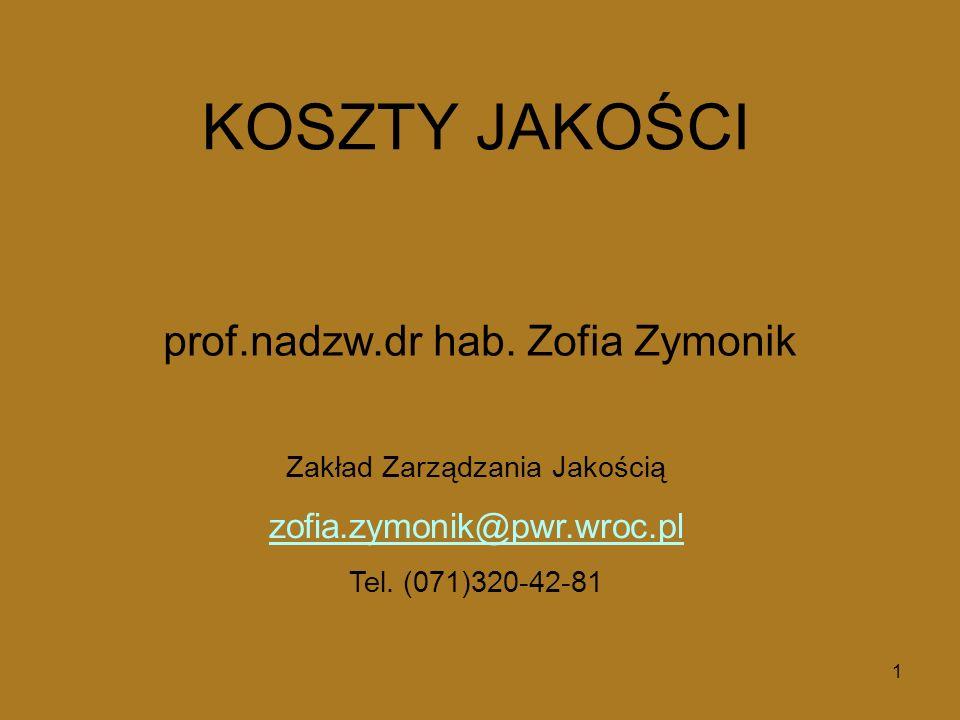prof.nadzw.dr hab. Zofia Zymonik