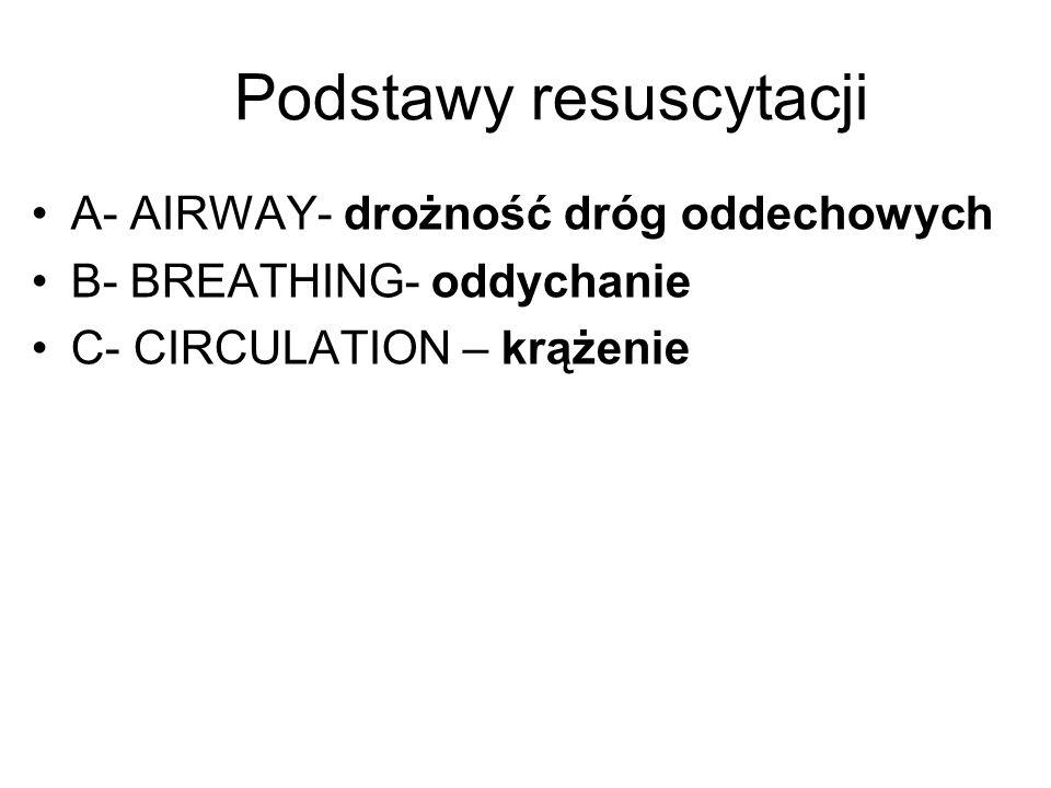 Podstawy resuscytacji