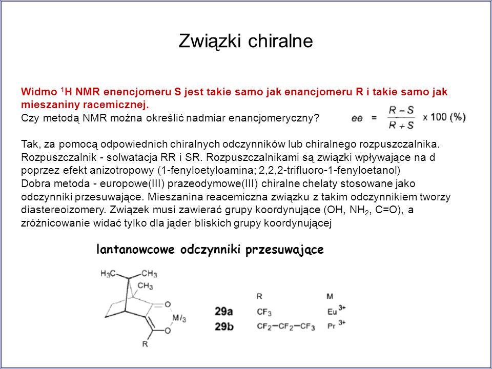 Związki chiralne lantanowcowe odczynniki przesuwające