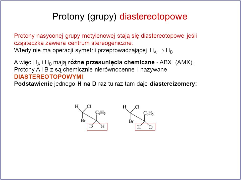 Protony (grupy) diastereotopowe
