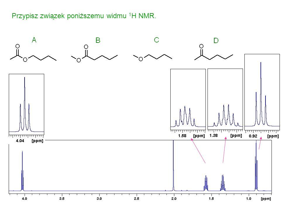 Przypisz związek poniższemu widmu 1H NMR.