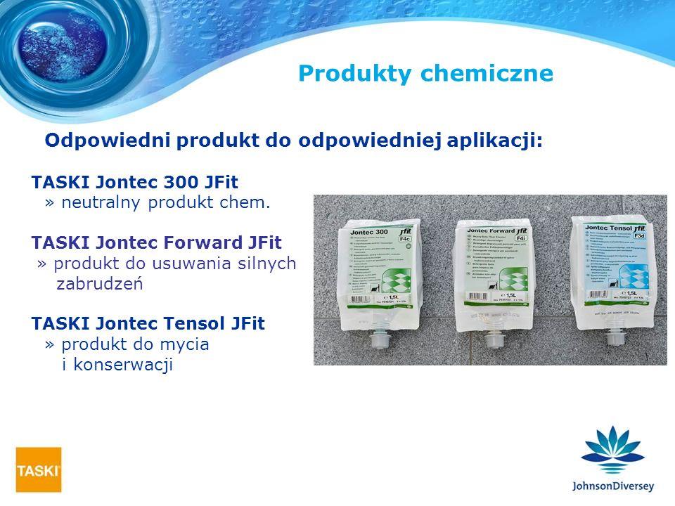Produkty chemiczne Odpowiedni produkt do odpowiedniej aplikacji: