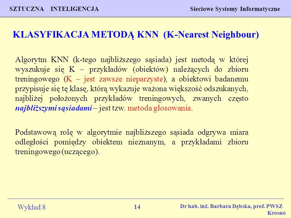 KLASYFIKACJA METODĄ KNN (K-Nearest Neighbour)