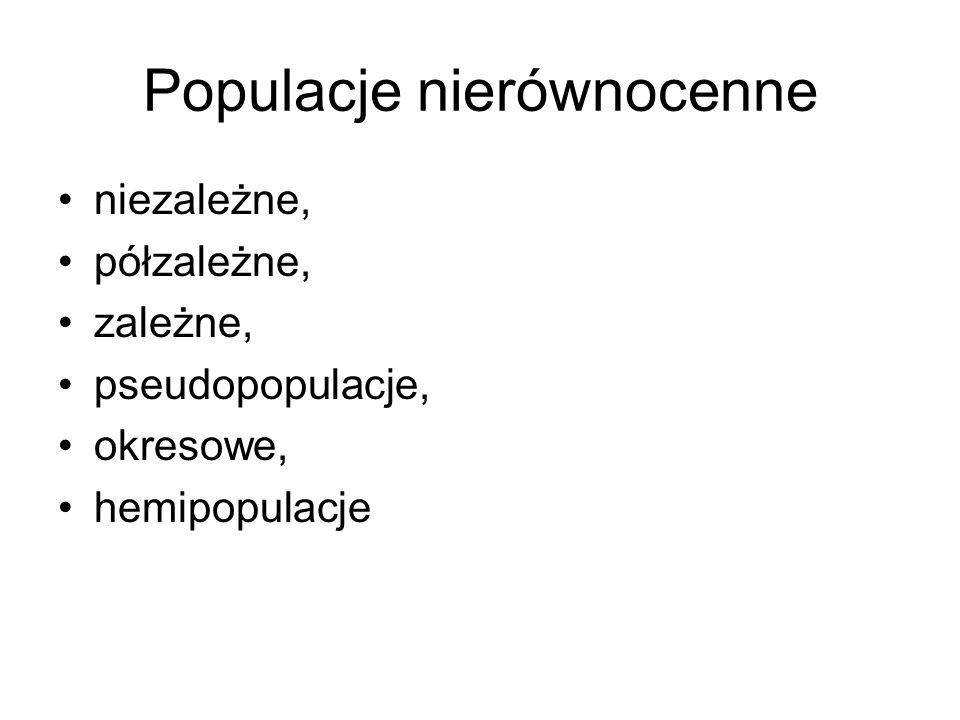 Populacje nierównocenne
