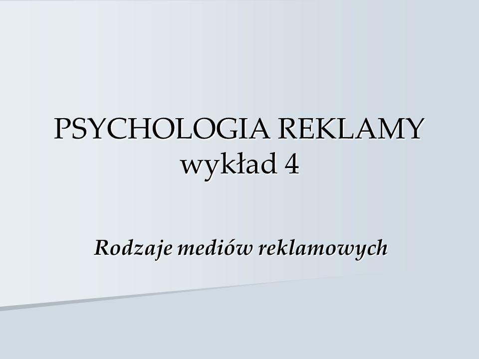 PSYCHOLOGIA REKLAMY wykład 4