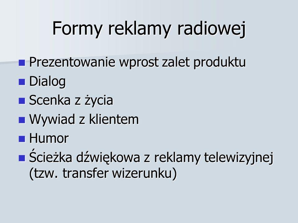 Formy reklamy radiowej