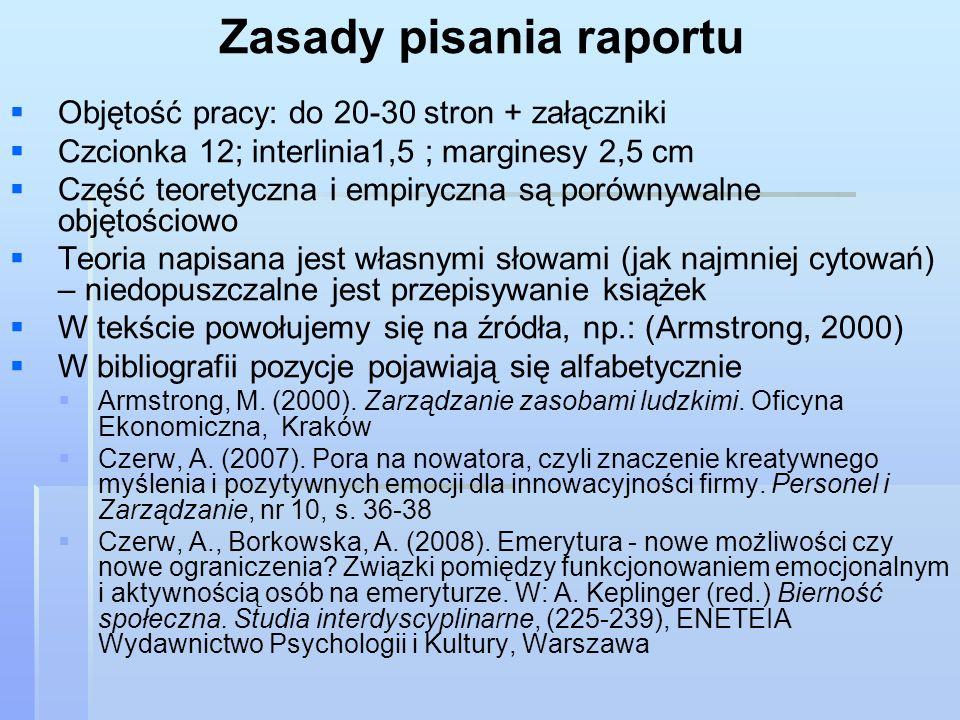 Zasady pisania raportu