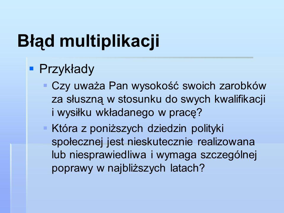 Błąd multiplikacji Przykłady