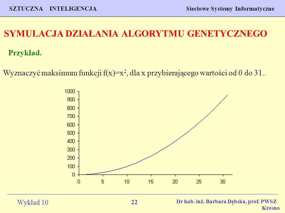 SYMULACJA DZIAŁANIA ALGORYTMU GENETYCZNEGO