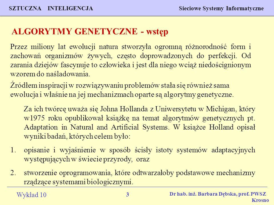 ALGORYTMY GENETYCZNE - wstęp