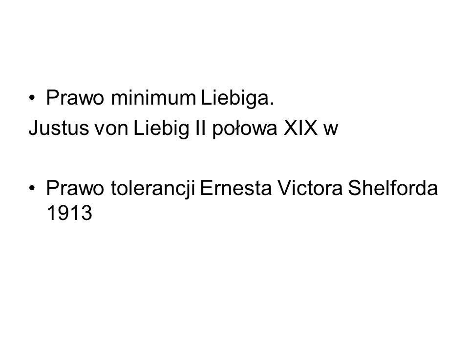 Prawo minimum Liebiga. Justus von Liebig II połowa XIX w.