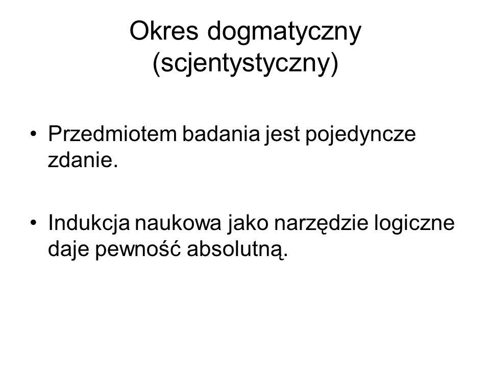 Okres dogmatyczny (scjentystyczny)