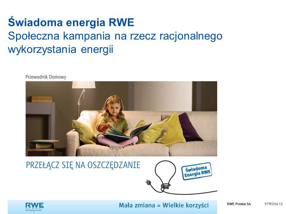 Świadoma energia RWE Społeczna kampania na rzecz racjonalnego wykorzystania energii