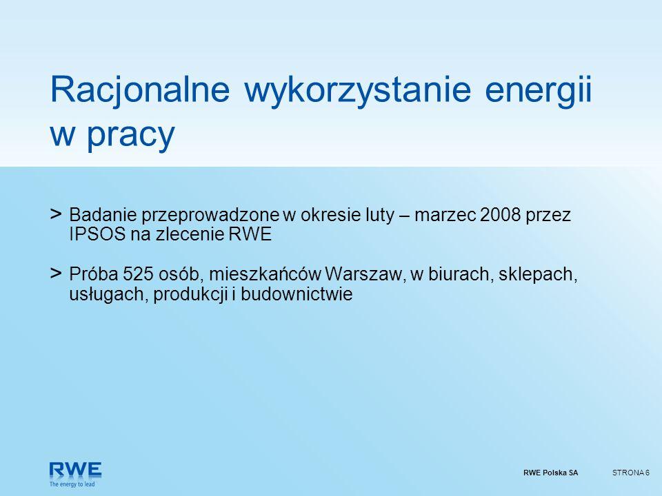 Racjonalne wykorzystanie energii w pracy