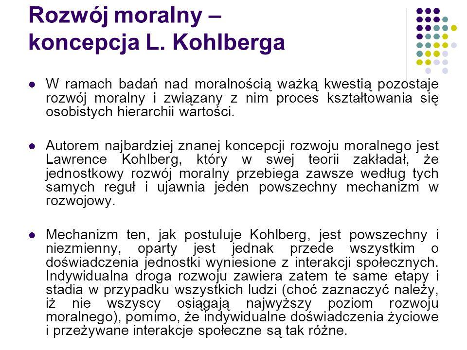 Rozwój moralny – koncepcja L. Kohlberga