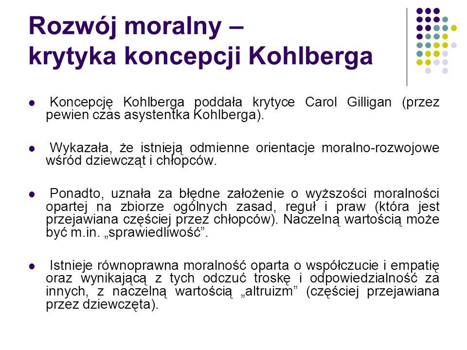 Rozwój moralny – krytyka koncepcji Kohlberga