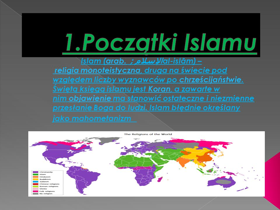 1.Początki Islamu