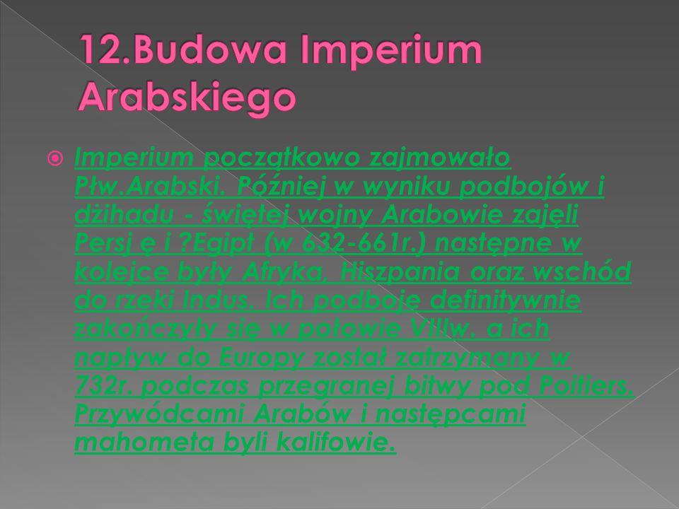 12.Budowa Imperium Arabskiego