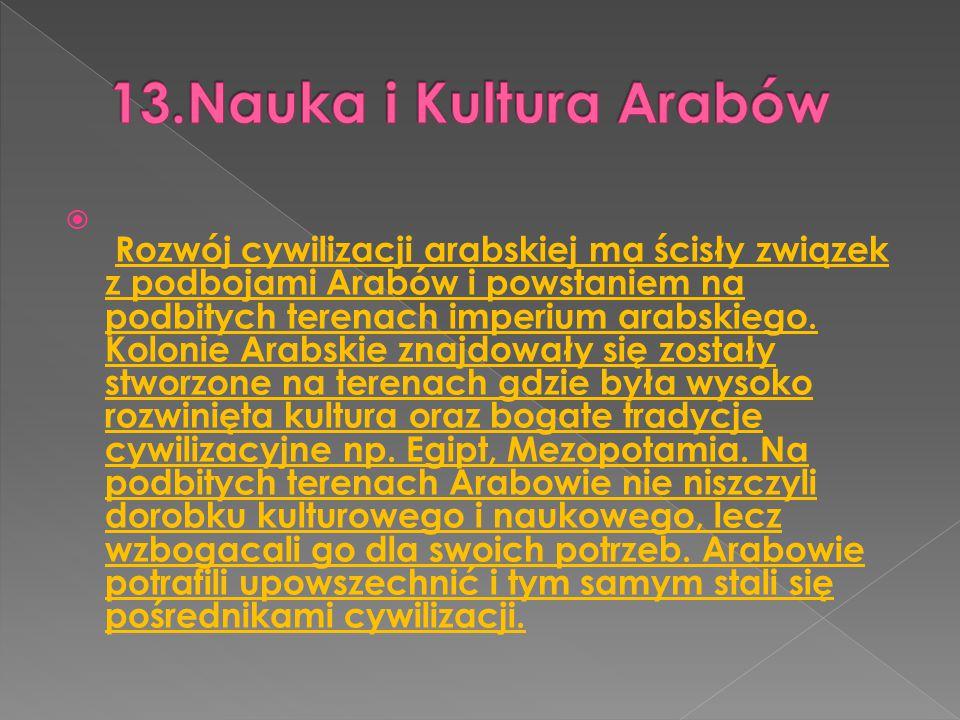13.Nauka i Kultura Arabów