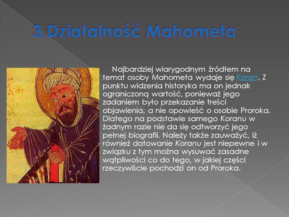 3.Działalność Mahometa