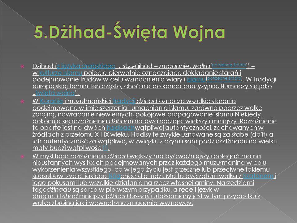5.Dżihad-Święta Wojna