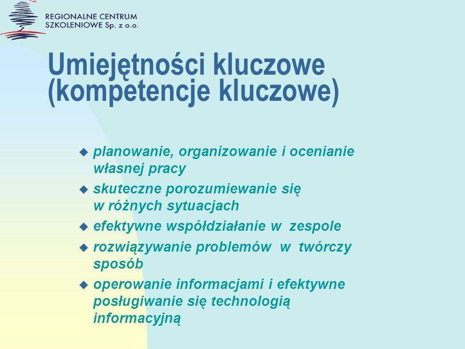Umiejętności kluczowe (kompetencje kluczowe)
