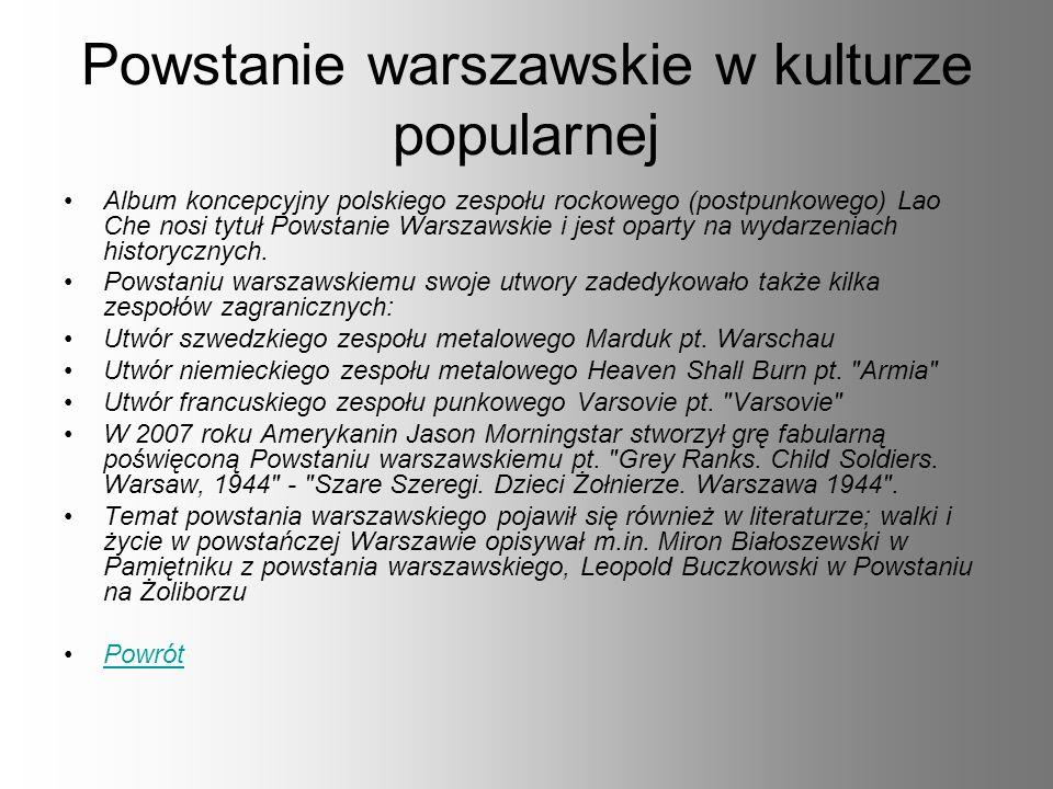 Powstanie warszawskie w kulturze popularnej