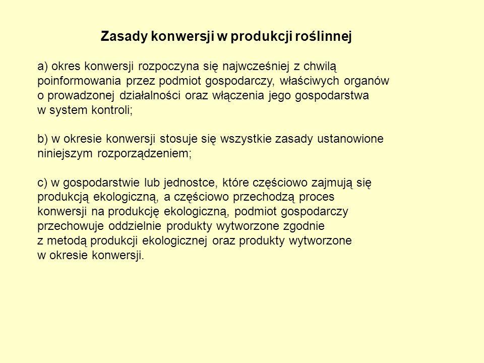 Zasady konwersji w produkcji roślinnej