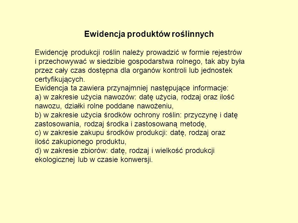 Ewidencja produktów roślinnych