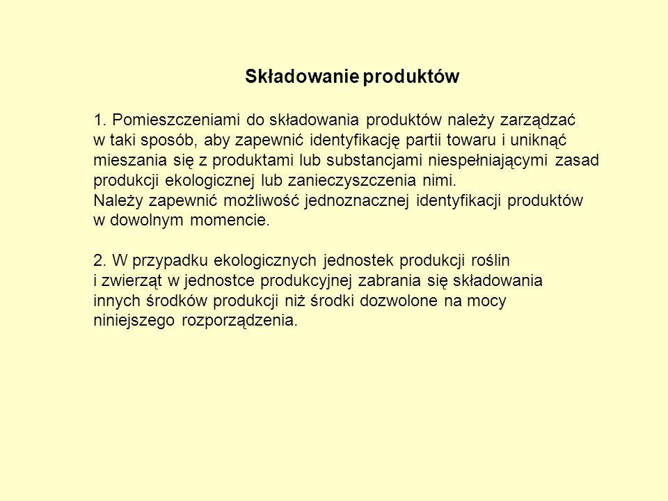 Składowanie produktów