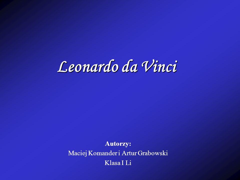 Autorzy: Maciej Komander i Artur Grabowski Klasa I Li