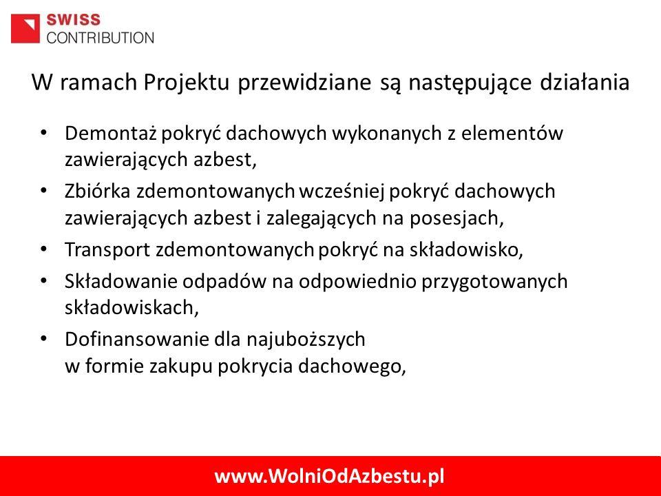 W ramach Projektu przewidziane są następujące działania