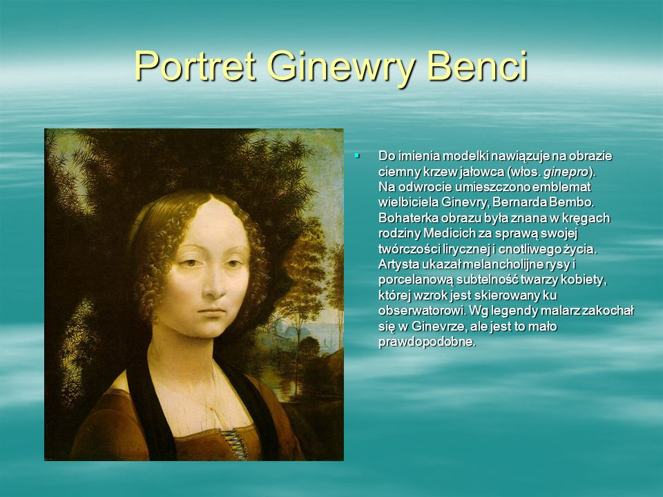 Portret Ginewry Benci