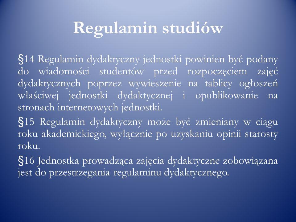 Regulamin studiów