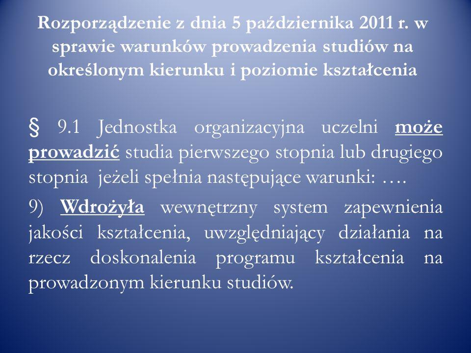 Rozporządzenie z dnia 5 października 2011 r