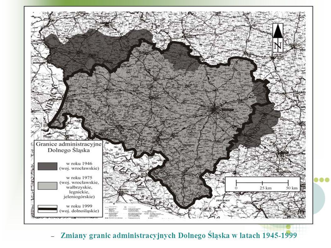 Zmiany granic administracyjnych Dolnego Śląska w latach 1945-1999