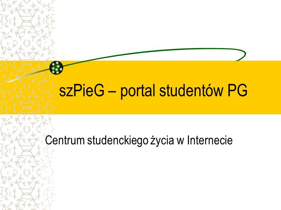 szPieG – portal studentów PG