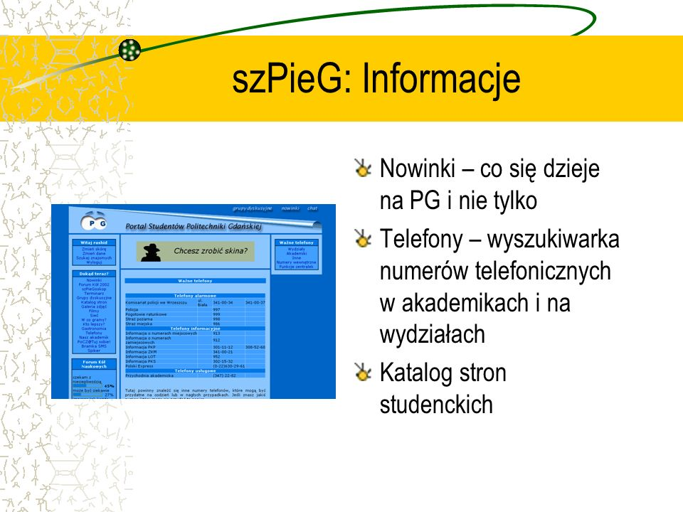 szPieG: Informacje Nowinki – co się dzieje na PG i nie tylko