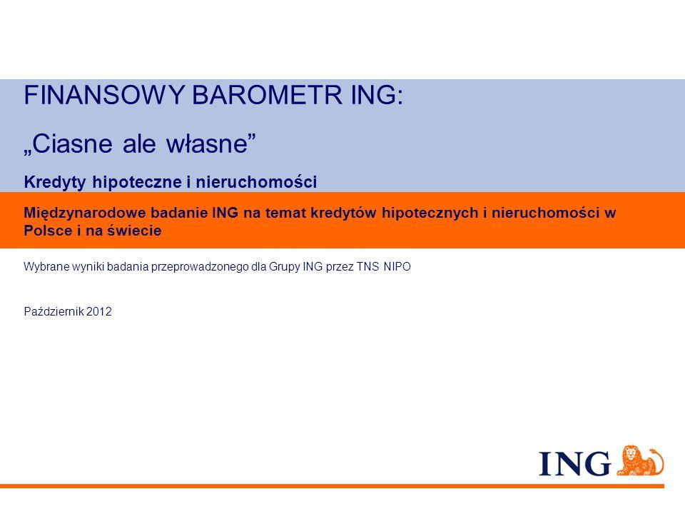 """FINANSOWY BAROMETR ING: """"Ciasne ale własne Kredyty hipoteczne i nieruchomości"""