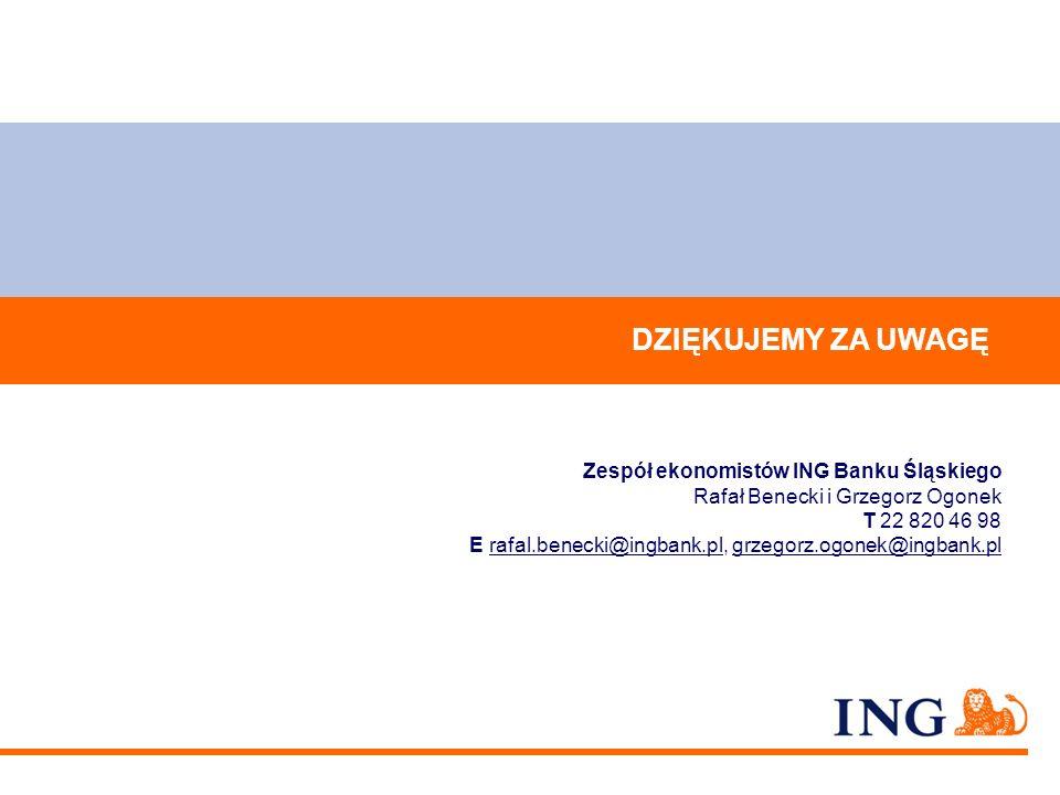 DZIĘKUJEMY ZA UWAGĘ Zespół ekonomistów ING Banku Śląskiego
