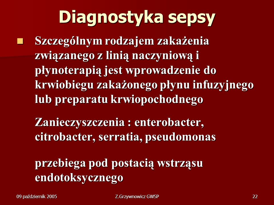 Diagnostyka sepsy