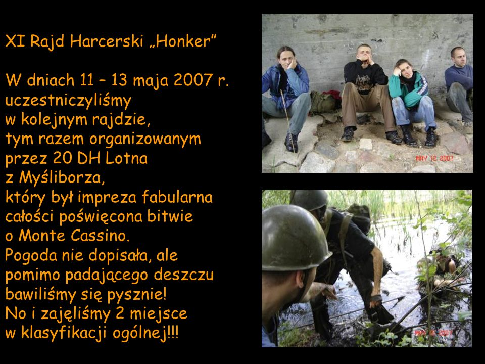 """XI Rajd Harcerski """"Honker"""